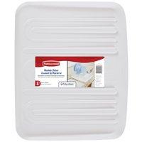 Rubbermaid 1182MAWHT Large Drain Board Tray, 19-1/4 in L x 15-1/4 in W, Plastic, White