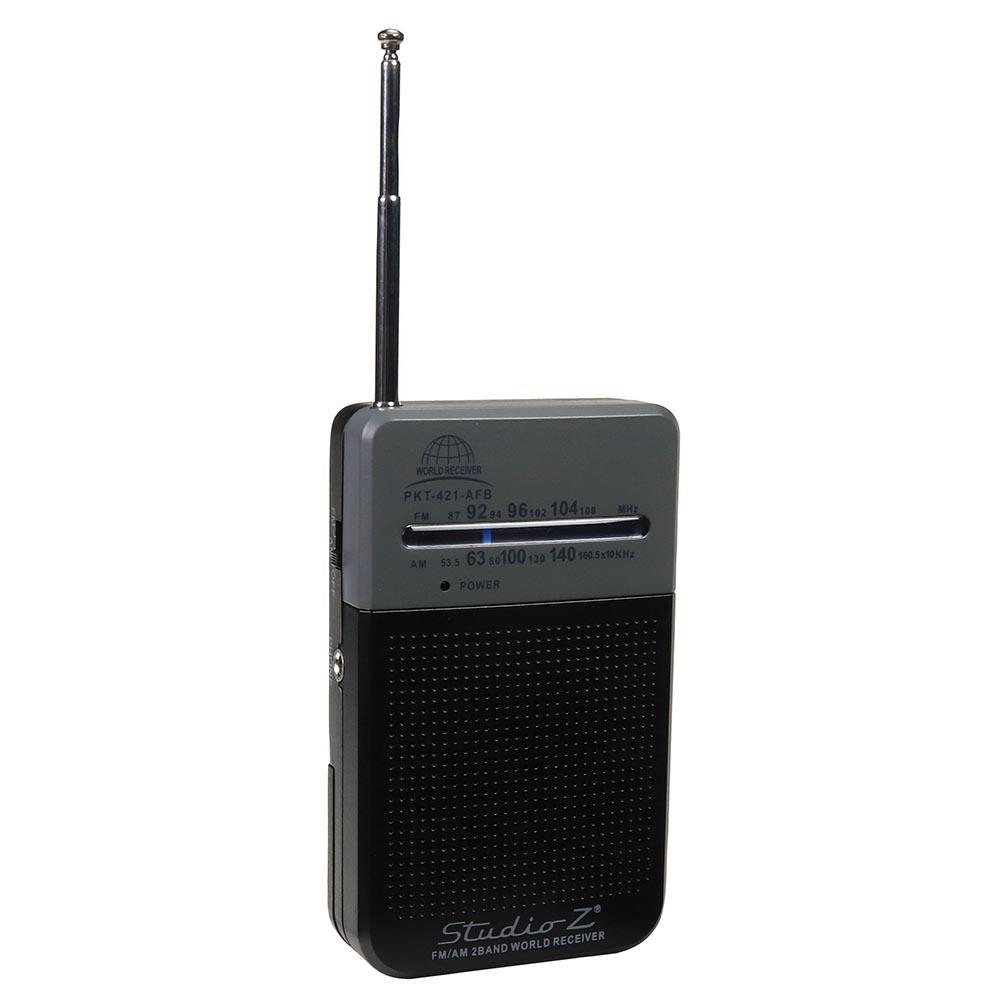Studio Z AM/FM 2 Band World Pocket Radio