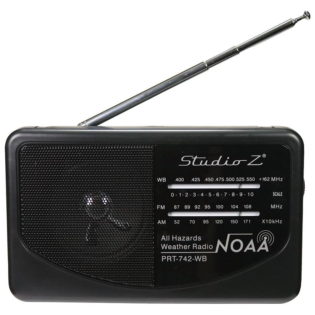 Studio Z AM/FM/Weatherband 3 Band World Radio Receiver