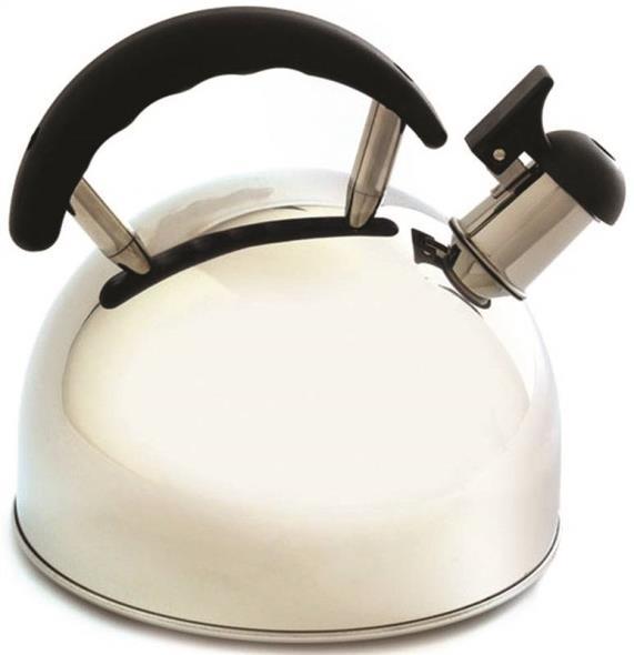 Norpro 5627 Whistling Tea Kettle, 2.5 qt, Stainless Steel