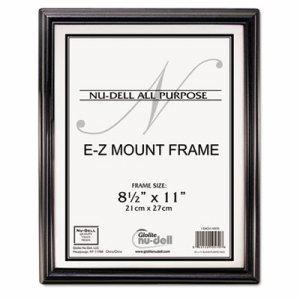 EZ Mount Document Frame, Plastic, 8 1/2 x 11, Black
