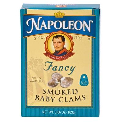 Napoleon Co Baby Clams Smoked (1x366OZ )