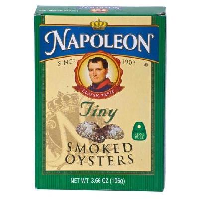 Napoleon Co Baby Oyster Smoked (1x366OZ )