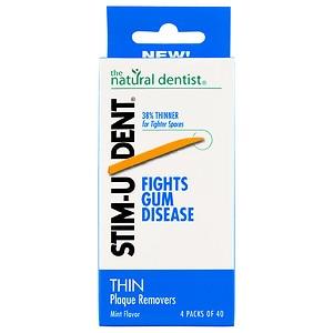Natural Dentist Stim-U-Dent Thin Plaque Removers Mint (6x4 Pack)