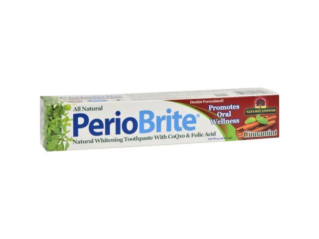 Nature's Answer Periobrite Toothpaste Cinnamon 4 Oz