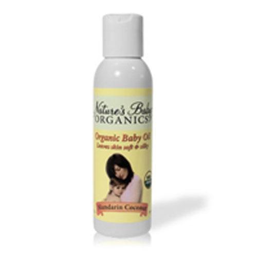 Nature's Baby Organics Baby Oil Mandarin Coconut (4 fl Oz)
