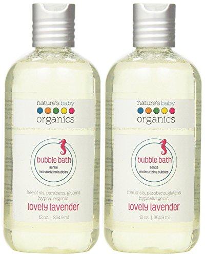 Natures Baby Organics Bubble Bath  Moisturizing  Lovely Lavender  12 oz