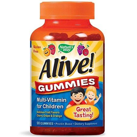 Nature's Way Alive Gummies Multi-Vitamin for Children Natural Cherry, Grape and Orange (90 Gummies)