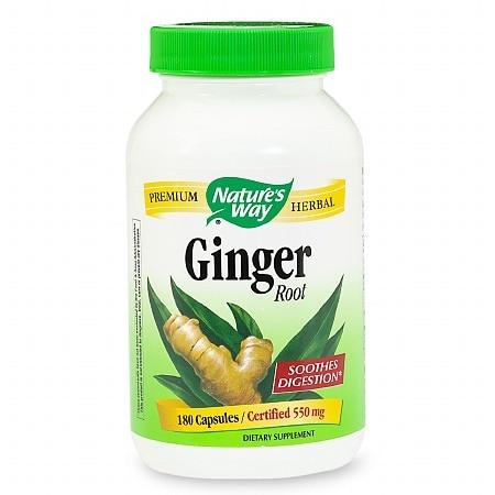 Nature's Way Ginger Root (180 Capsules)