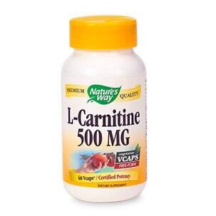 Nature's Way L-Carnitine 500 mg (60 Veg Capsules)