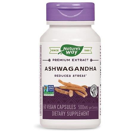 Nature's Way Ashwagandha Standardized (60 Veg Capsules)