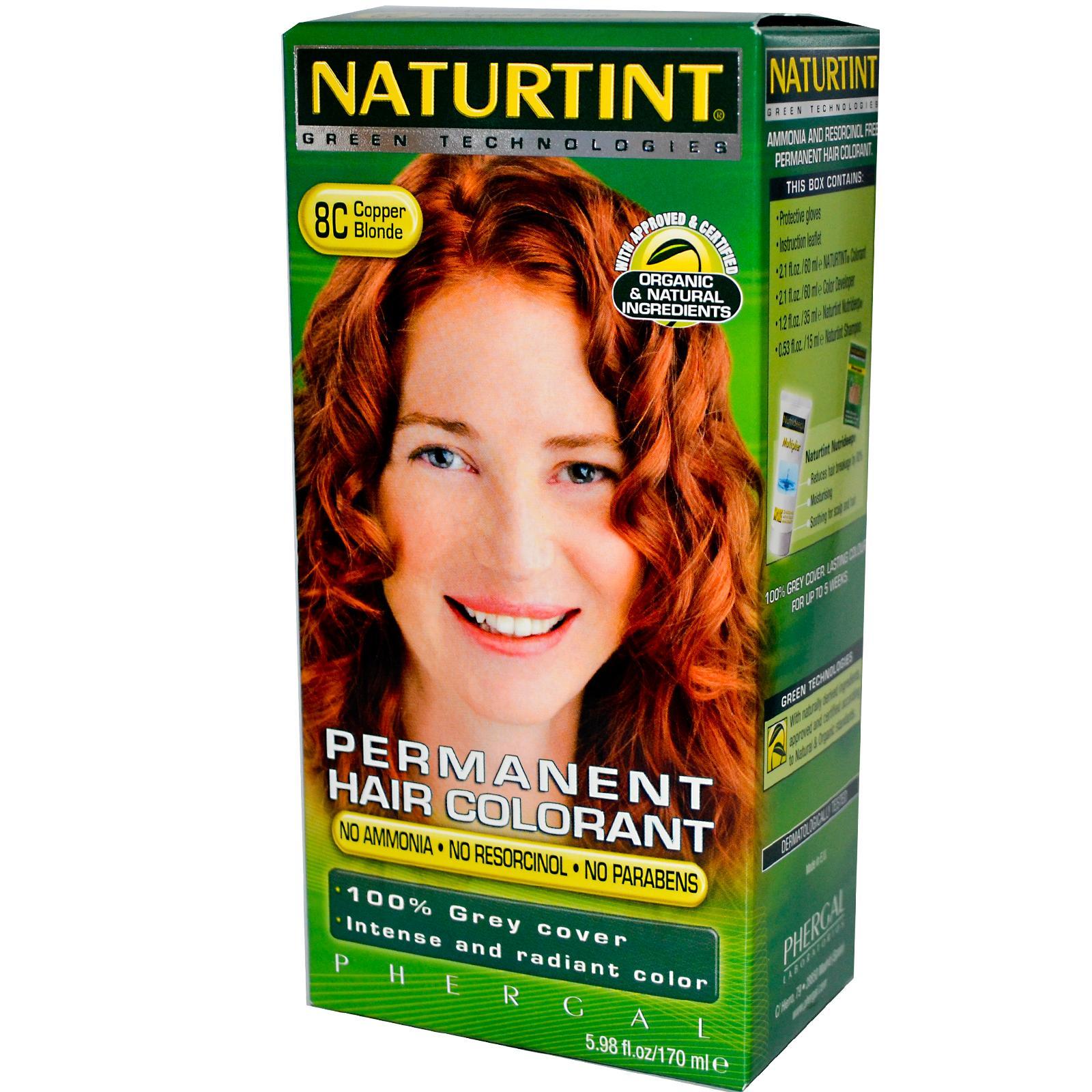 Naturtint 8c Copper Blonde Hair Color (1xKit)