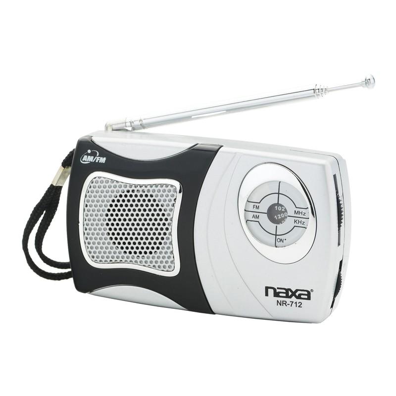 NAXA AM/FM POCKET RADIO W/SPEAKER, BLACK