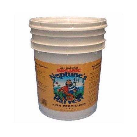 Neptune's Harvest Fish Fertilizer Orange Label 5 Gallon