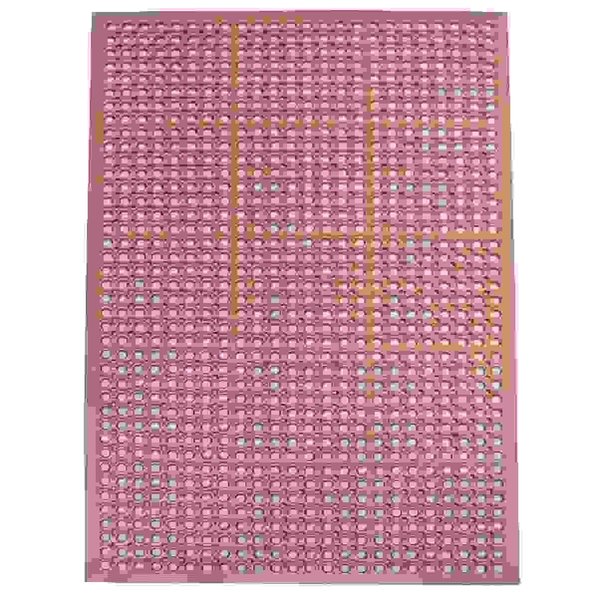 3 x 5 Foot Industrial Rubber Floor Mat - Red