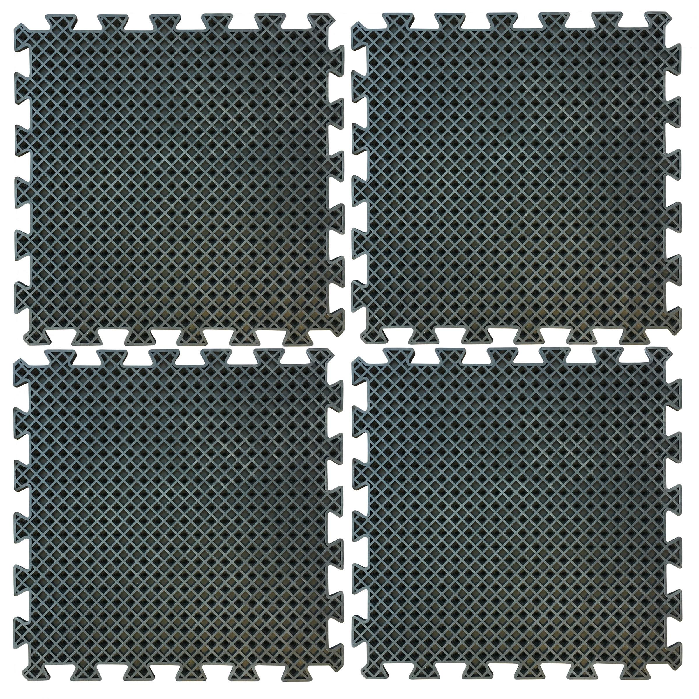 4 Piece Interlocking Rubber Mat Set