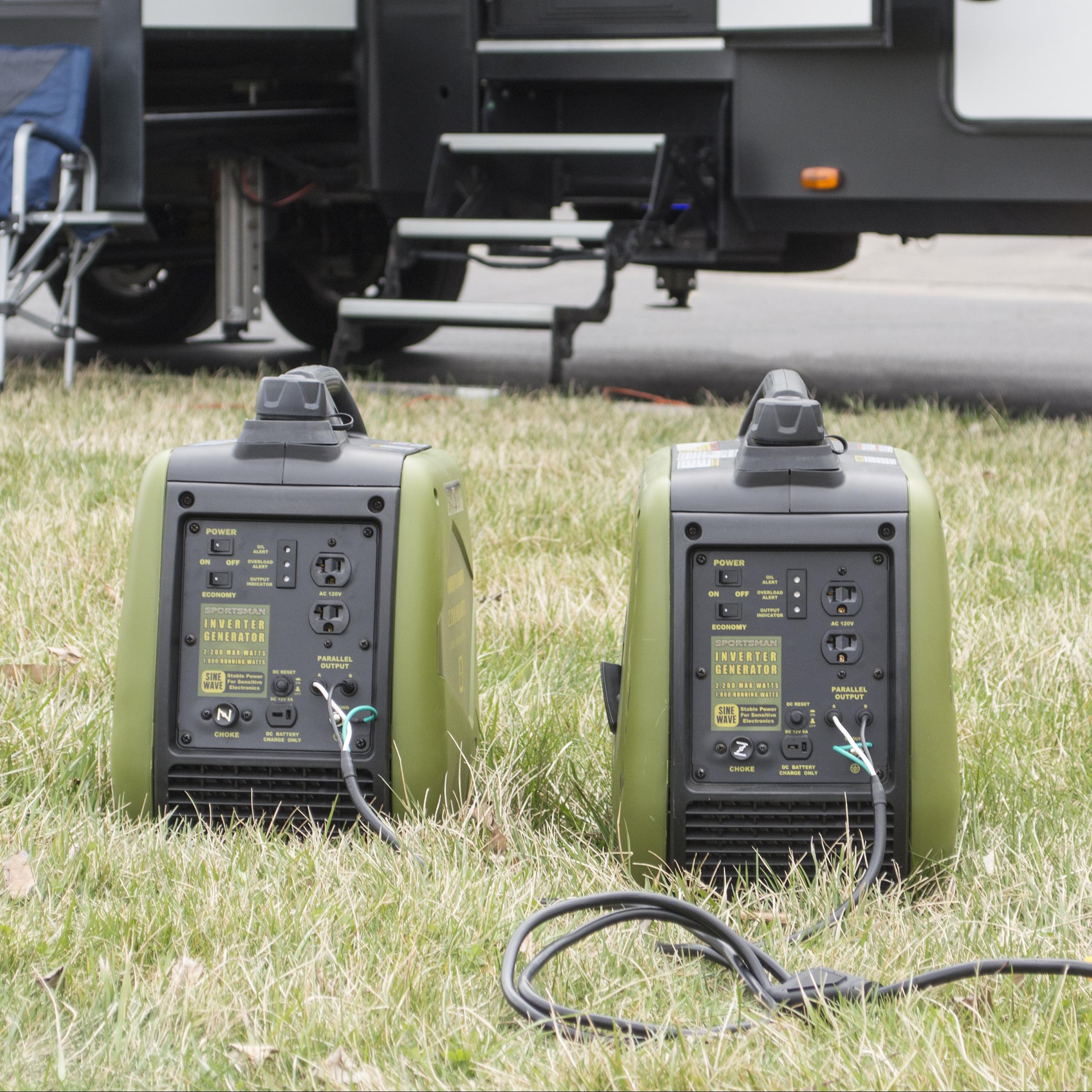Sportsman 4400 Watt Gasoline Portable Inverter Generator Kit with 30 Amp Parallel Cable