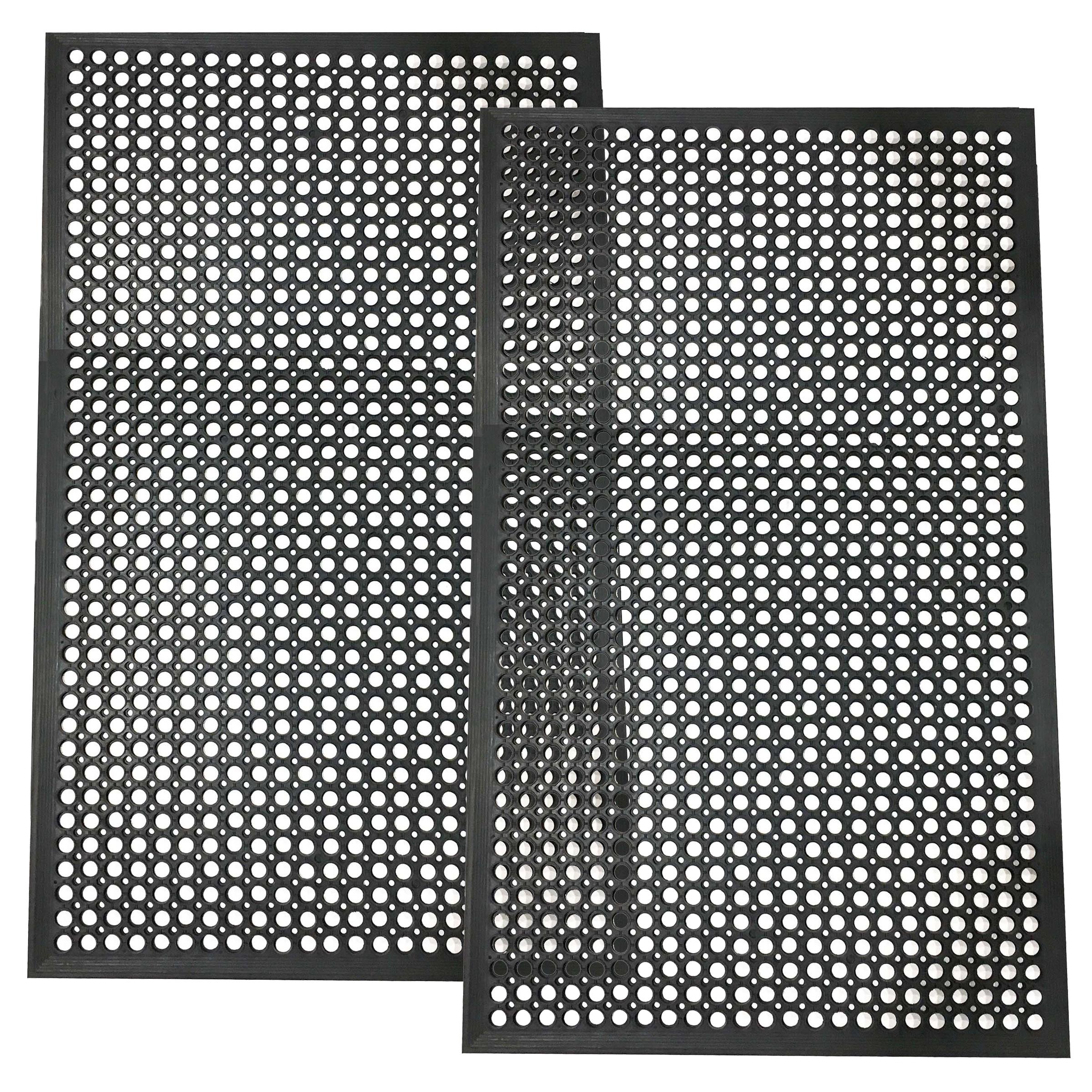 Buffalo Tools 3 x 5 Foot Industrial Rubber Floor Mat - 2Pk