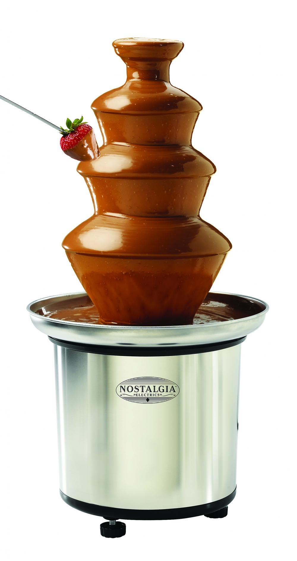Nostalgia 3-Tier Stainless Steel Chocolate Fountain