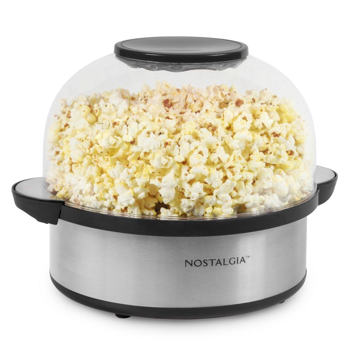 Nostalgia 6-Quart Stainless Steel Stirring Speed Popcorn Popper