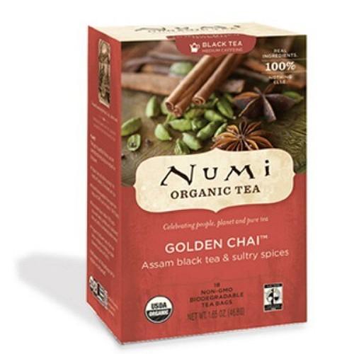 Numi Tea Golden Chai Black Tea (1x18 Bag)