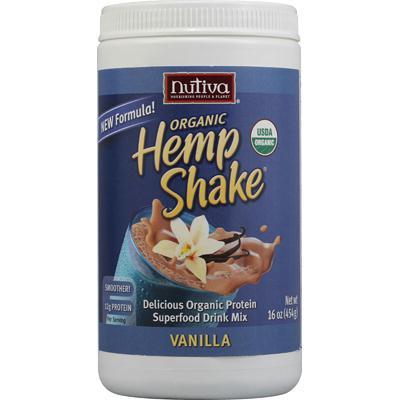 Nutiva Hemp Vanilla Shake (1x16Oz)