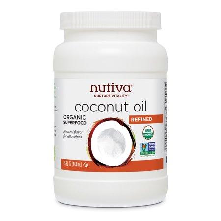 Nutiva Coconut Oil  Organic  Superfood  Refined  15 oz