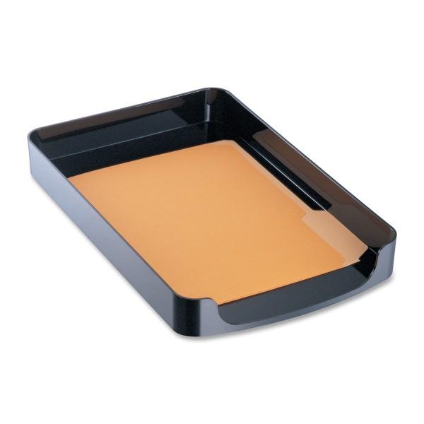 2200 Series Front-Loading Desk Tray, Single Tier, Plastic, Legal, Black