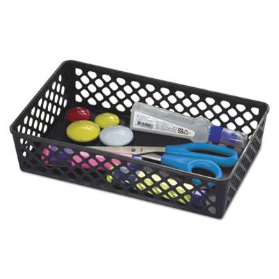 "Recycled Supply Basket, 10.0625"" x 6.125"" x 2.375"", Black"