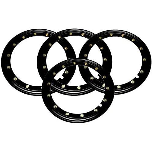 Simulated Beadlock Rings 15 inch - BLACK (Set of 4)
