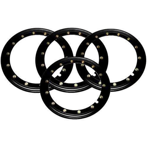 Simulated Beadlock Rings 16 inch - BLACK (Set of 4)