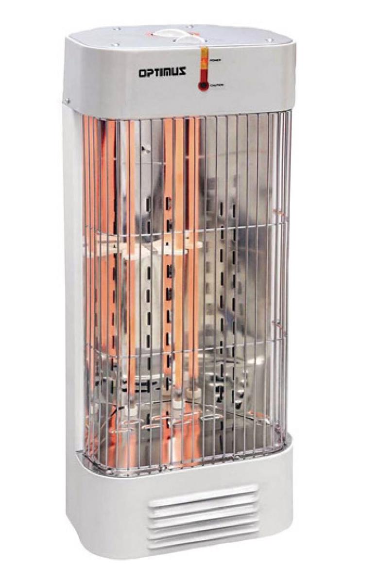 Optimus H5230 White Heater Tower Quartz With Thermostat 2 Heat