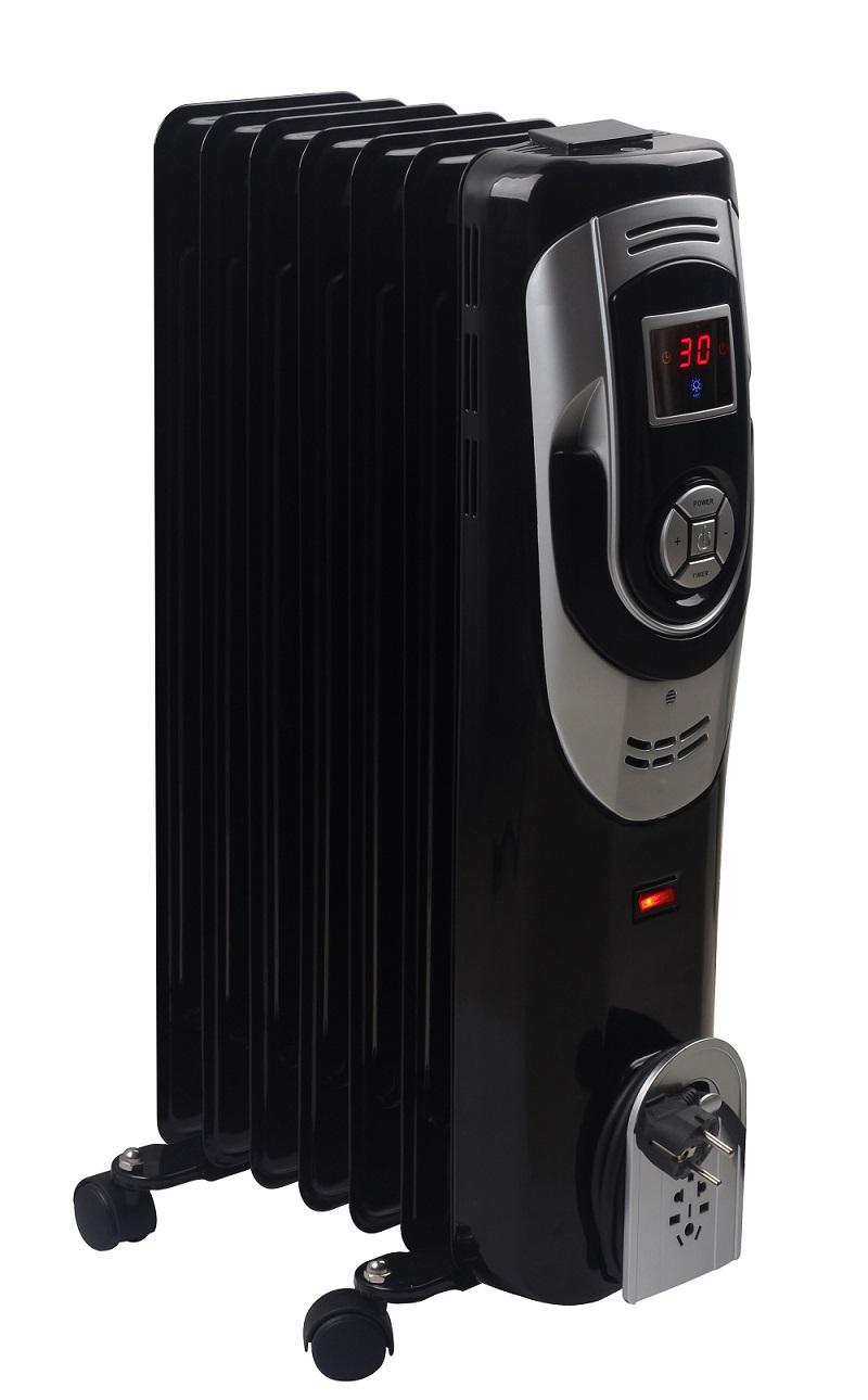 OPTIMUS H6015L BLACK DIGITAL 7 FIN OIL FILLED RADIATOR HEATER