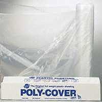 LBM Poly 4X84C Polyfilm, 4 mil T, 8.3 ft W x 100 ft L, Clear, Plastic