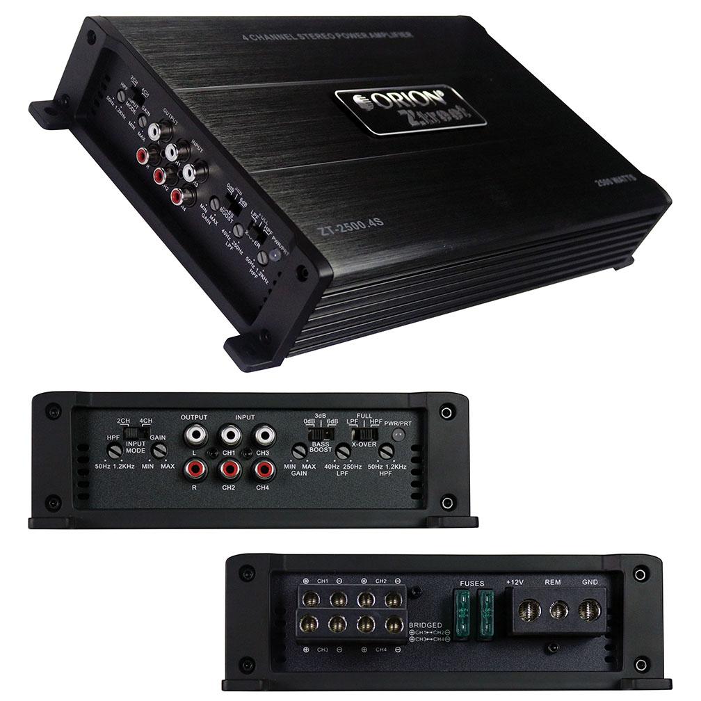 Orion Ztreet Amplifier 2500 Watt 4 Channel