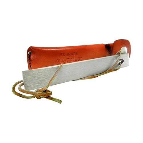 Old Timer Honesteel with Brown Leather Belt Sheath