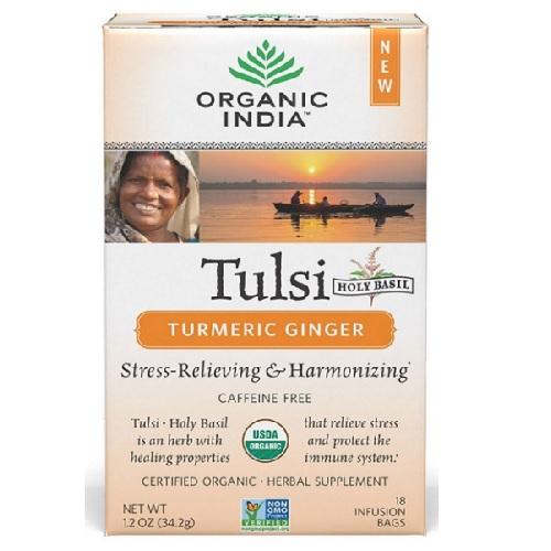 Organic India  Oi Tulsi Turmeric Ginger  (6X18 Ct)