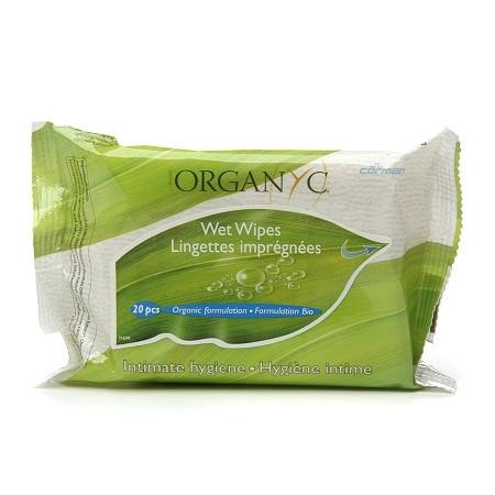Organyc Intimate Hygiene Wet Wipes (1x20 Count)