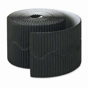 "Bordette Decorative Border, 2 1/4"" x 50' Roll, Black"
