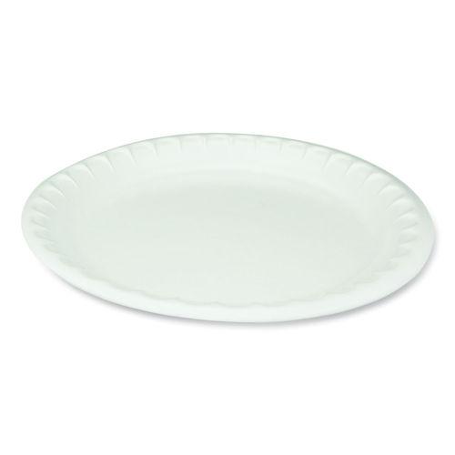 "Laminated Foam Dinnerware, Plate, 10.25"" Diameter, White, 540/Carton"