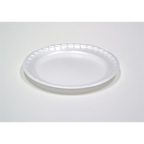 "Laminated Foam Dinnerware, Plate, 6"" Diameter, White, 1,000/Carton"