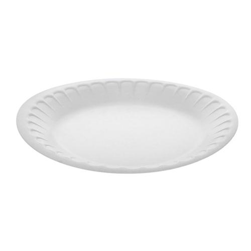 "Laminated Foam Dinnerware, Plate, 7"" Diameter, White, 900/Carton"