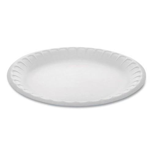 "Unlaminated Foam Dinnerware, Plate, 9"" Diameter, White, 500/Carton"