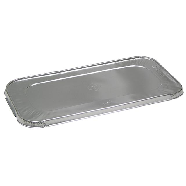 Aluminum Steam-Pan Lids, 1/3 Size, 12.31 x 6.19, 200/Carton