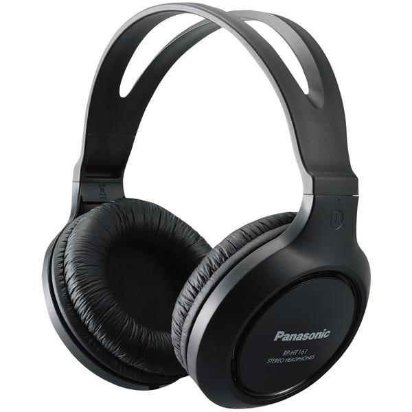 Panasonic RP-HT161-K Full-Size Over-Ear Wired Long-Cord Headphones