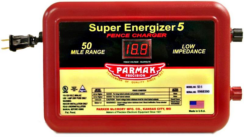 Super Energizer 5 Low Impedance 110/120 Volt 50 Mile Range Electric Fence Controller SE5