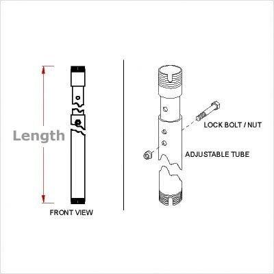 4'-6' Adjustable extension column
