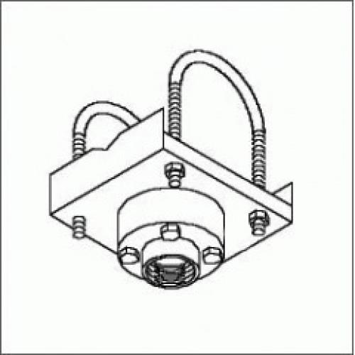 Truss Ceiling Adapter with Stress Decoupler