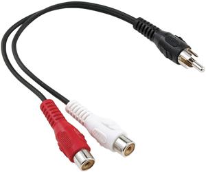 AXIS PET20-7000 RCA Y-Adapter (1 RCA Plug to 2 RCA Jacks)