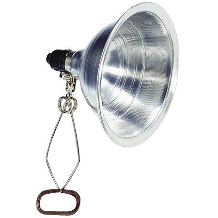 Powerzone ORCL050506B Multi-Purpose Clamp Light, 125 V Incandescent Lamp, 18/2 SPT-2 6 ft Cord, Aluminum, Silver